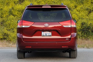 2011 Toyota Sienna rear-on