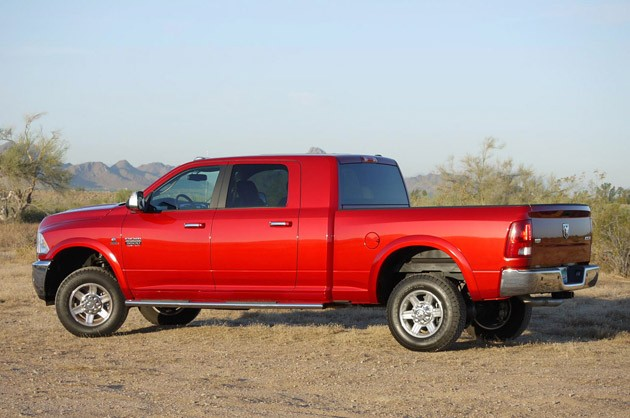 2010 Ram 3500 Laramie Mega Cab rear view