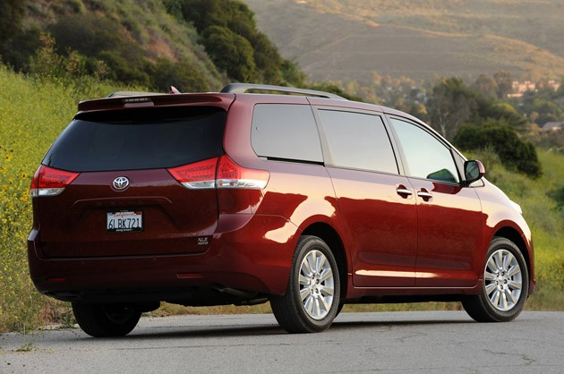 2011 Toyota Sienna rear view