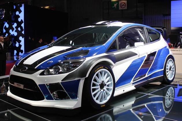 2011 Ford Fiesta RS WRC reveal at 2010 Paris Motor Show