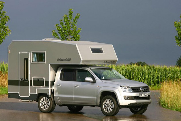 Volkswagen Amarok with Bimobil camper