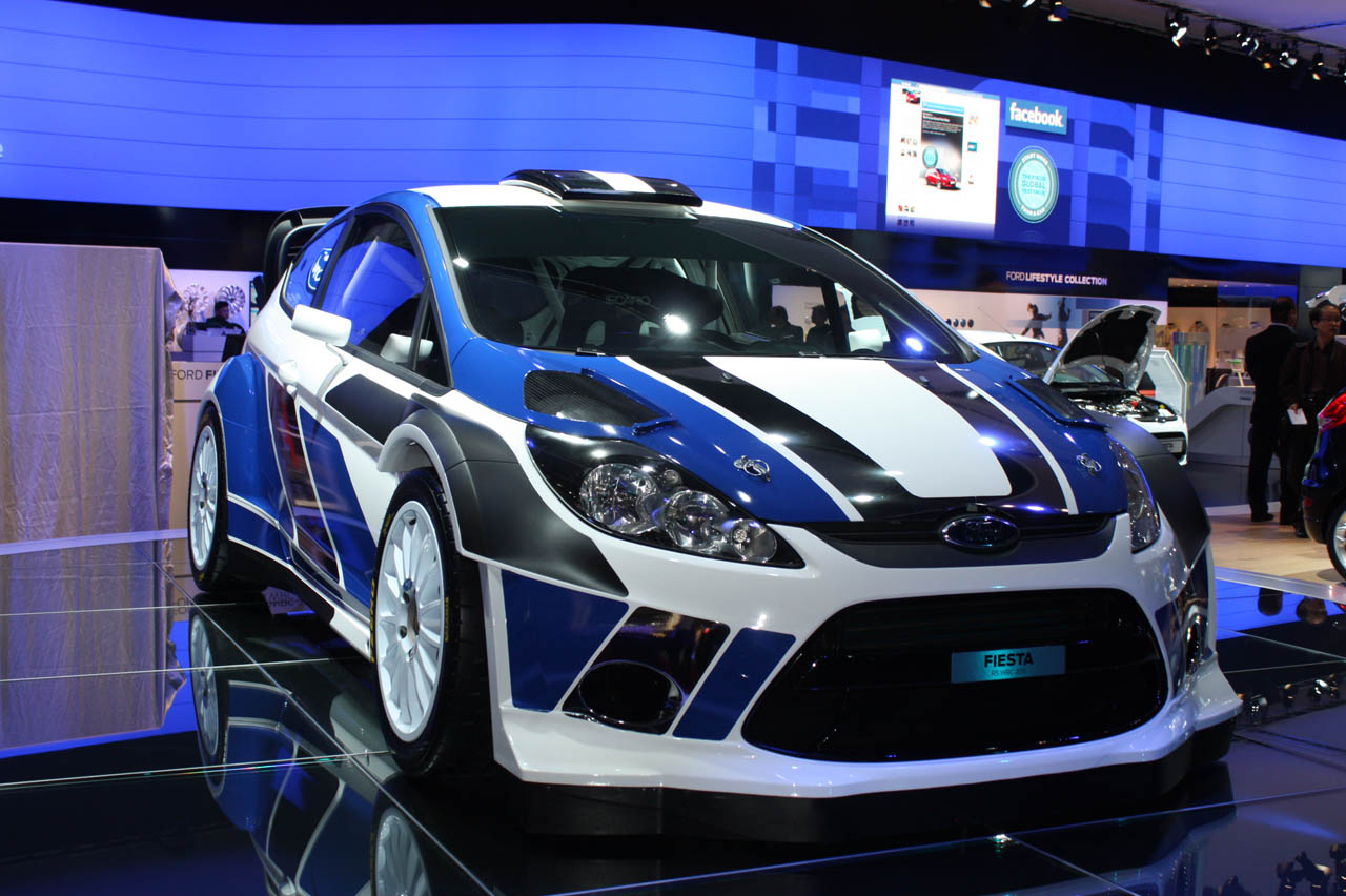 The Ford Fiesta rally car.