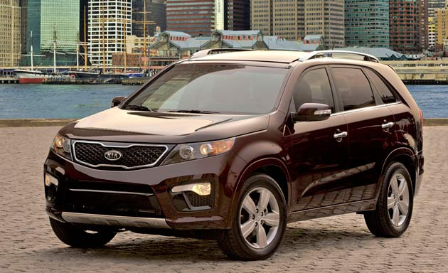 2011 Kia Sorento SX parked in harbor