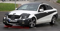 Mercedes-Benz C-Class Coupe spy shot