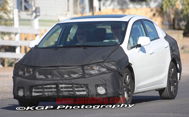 2012 Honda Civic spy shots