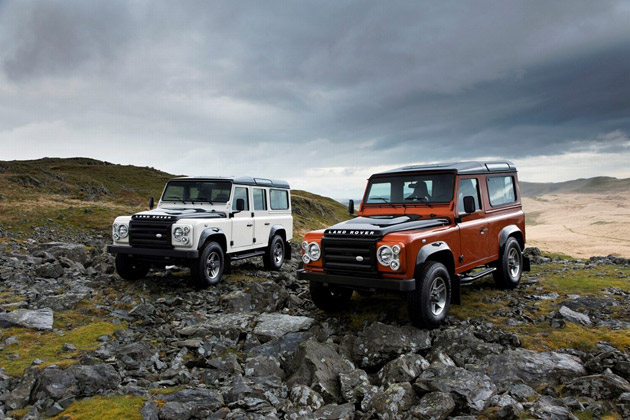 Land Rover Fire and Ice edition Defender SUVs