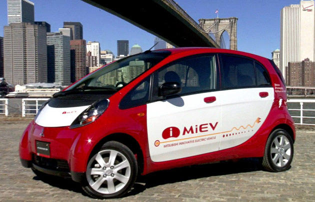 Mitsubishi i-MiEV live in New York