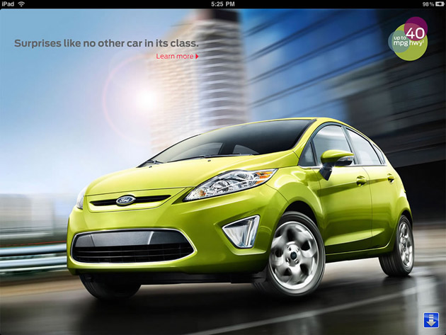 Ford Fiesta iPad app