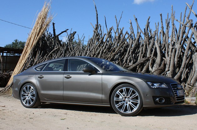 2012 Audi A7 with woodpile