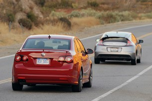 2011 Honda CR-Z and 2010 Volkswagen Jetta TDI Street Cup Edition