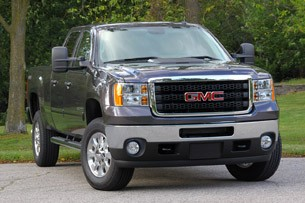 2011 GMC Sierra 3500HD SLE front 3/4 view