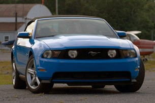 2011 Ford Mustang GT Convertible front 3/4 view