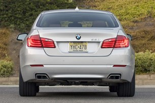 2011 BMW 550i rear view