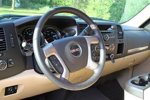 2011 GMC Sierra 3500HD SLE steering wheel
