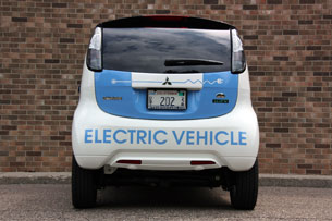 2010 Mitsubishi i-MiEV, rear-on