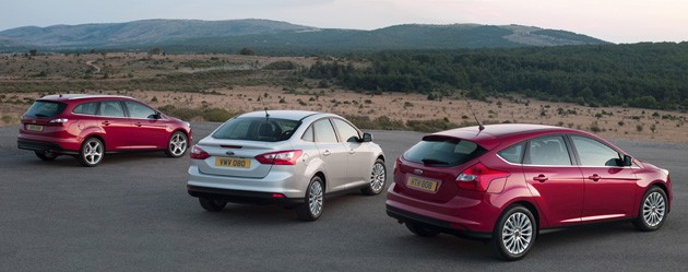 2012 Ford Focus lineup, rear view