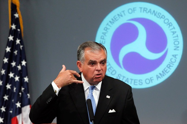 Ray Lahood mimics phone