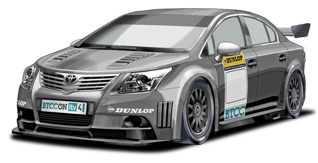 Toyota Avensis touring car sketch