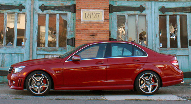 2010 Mercedes-Benz C63 AMG P31 Development Package, side view