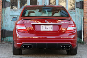2010 Mercedes-Benz C63 AMG P31 Development Package, rear view