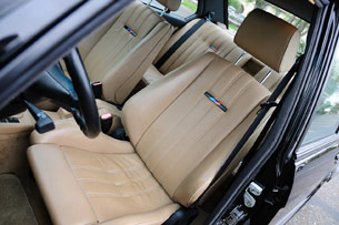 1988 BMW M5 front seats