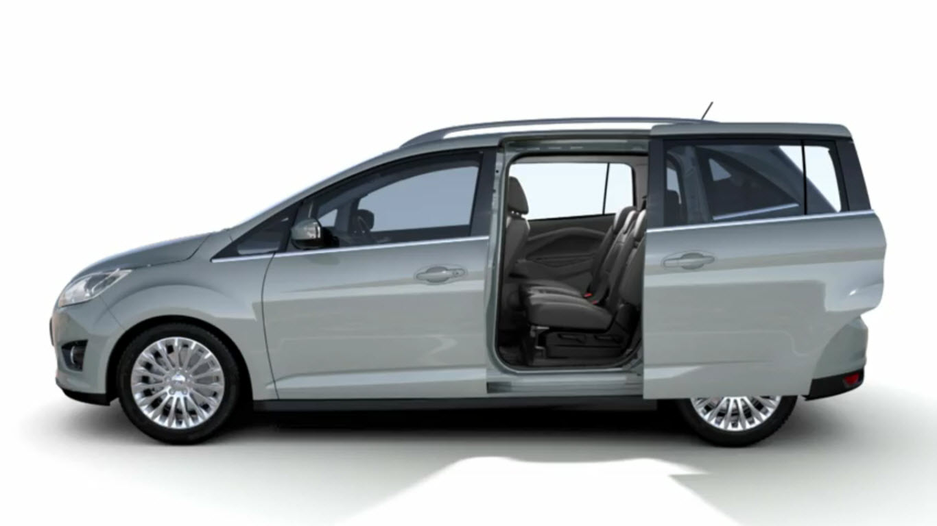 video 2012 ford grand c max shows off its magic middle seat. Black Bedroom Furniture Sets. Home Design Ideas
