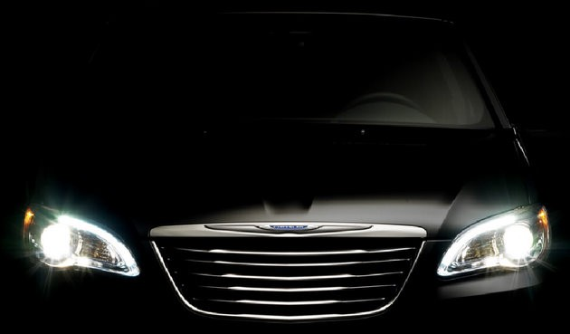 Chrysler 200 sedan shadowy teaser