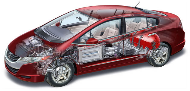 Honda Insight cutaway