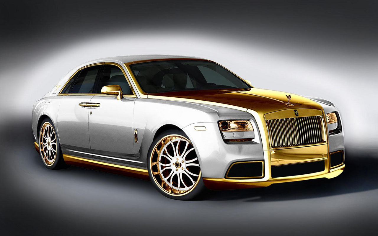 have you seen this a gold plated rolls royce called the