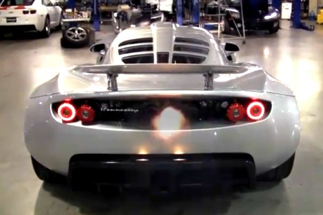 Hennessey Venom GT exhaust pop