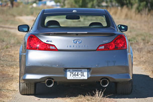 2011 Infiniti IPL G Coupe, rear view