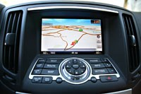2011 Infiniti IPL G Coupe navigation system