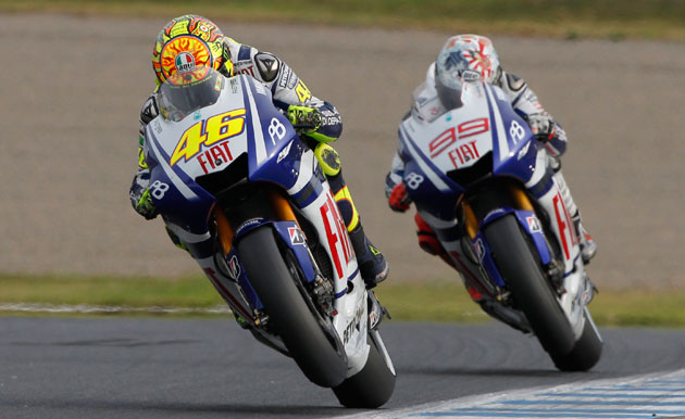 Valentino Rossi and Jorge Lorenzo at 2010 Japanese Motorcycling Grand Prix