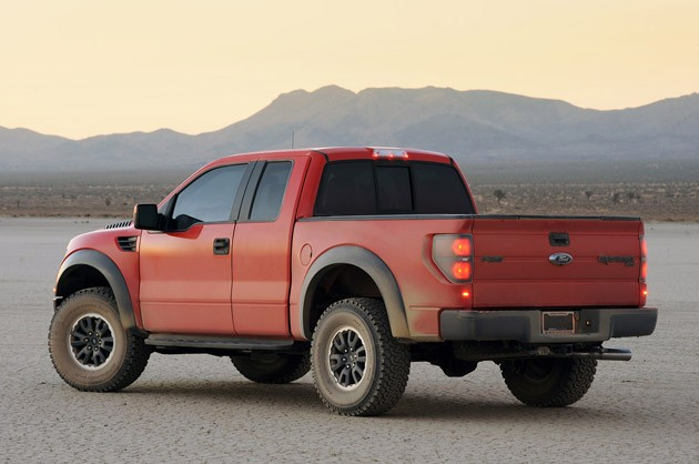 2010 Ford F-150 SVT Raptor 6.2 rear 3/4 view