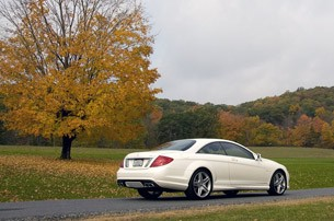 2011 Mercedes-Benz CL63 AMG rear 3/4 view