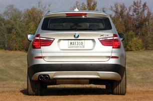 2011 BMW X3 rear view