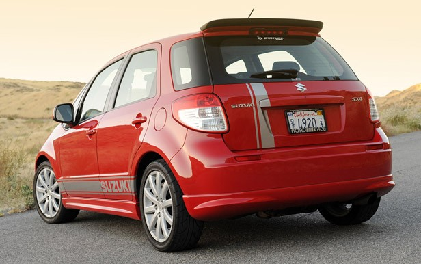 2010 Suzuki SX4 SportBack by RoadRace Motorsports rear 3/4 view