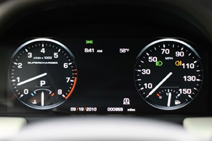 2011 Land Rover Range Rover Supercharged gauges