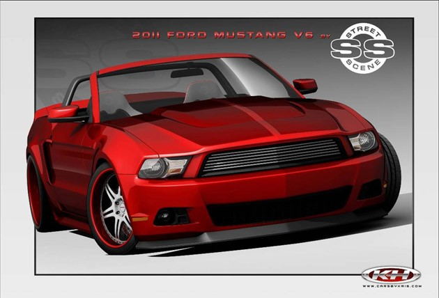 Ford Mustang Official SEMA cars rendered