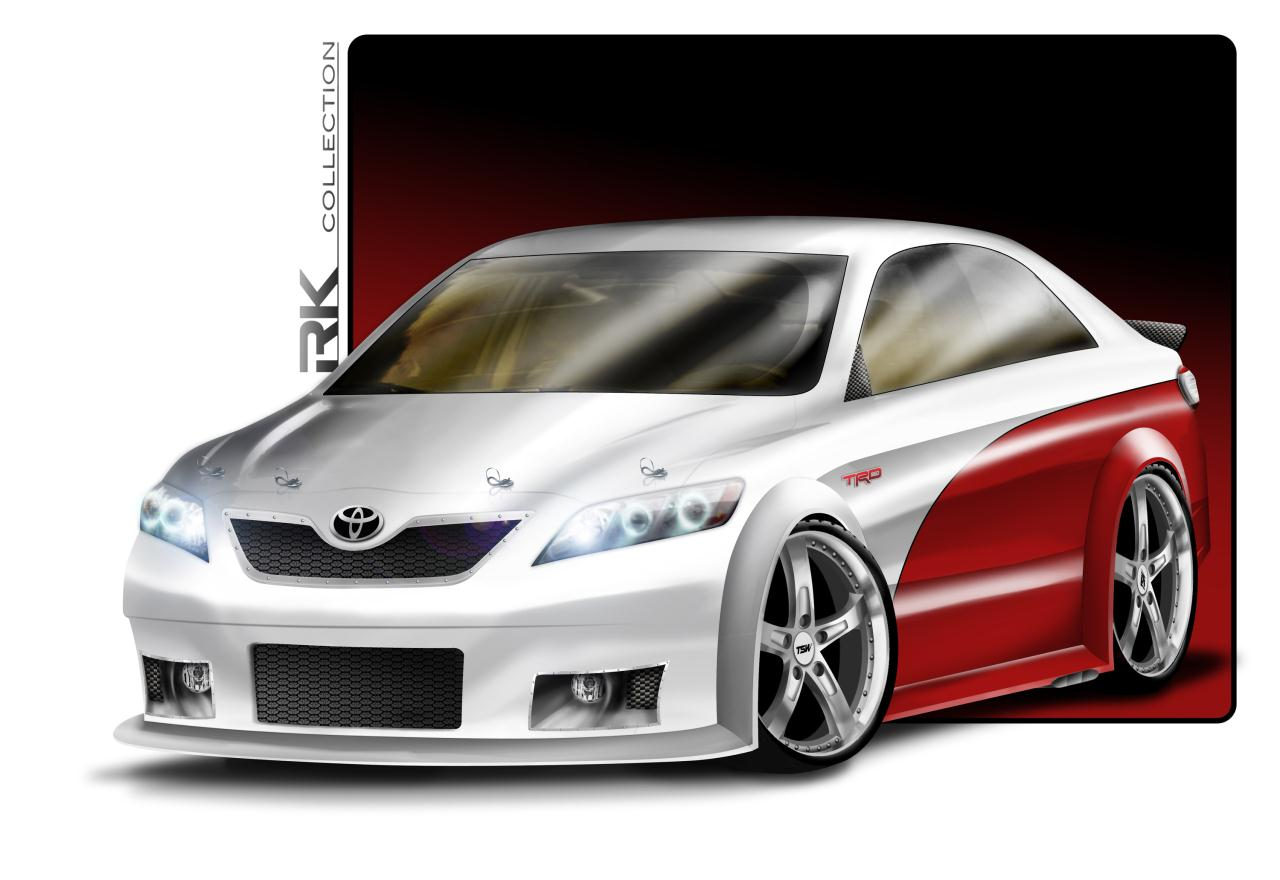 rk collection toyota camry nascar edition photo gallery autoblog. Black Bedroom Furniture Sets. Home Design Ideas