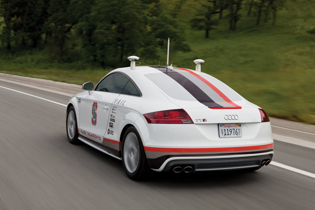 Audi TT autonomous Pikes Peak vehicle