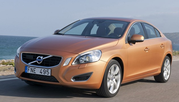 2011 Volvo S60 at the beach
