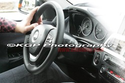 BMW 3 Series interior spy shot
