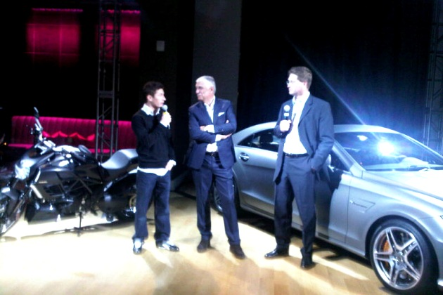 Nicky Hayden at AMG event at LA Auto Show