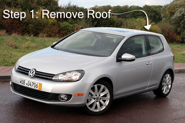 Volkswagen Golf Remove Roof