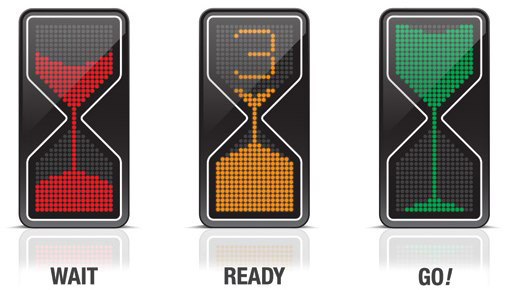 Hourglass traffic light concept