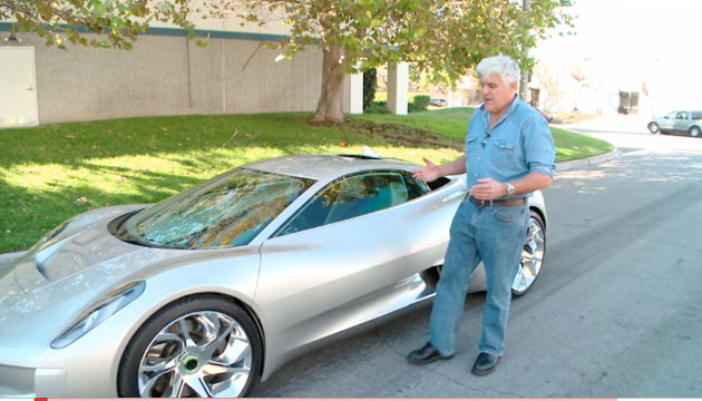 Jaguar C-X75 with Jay Leno