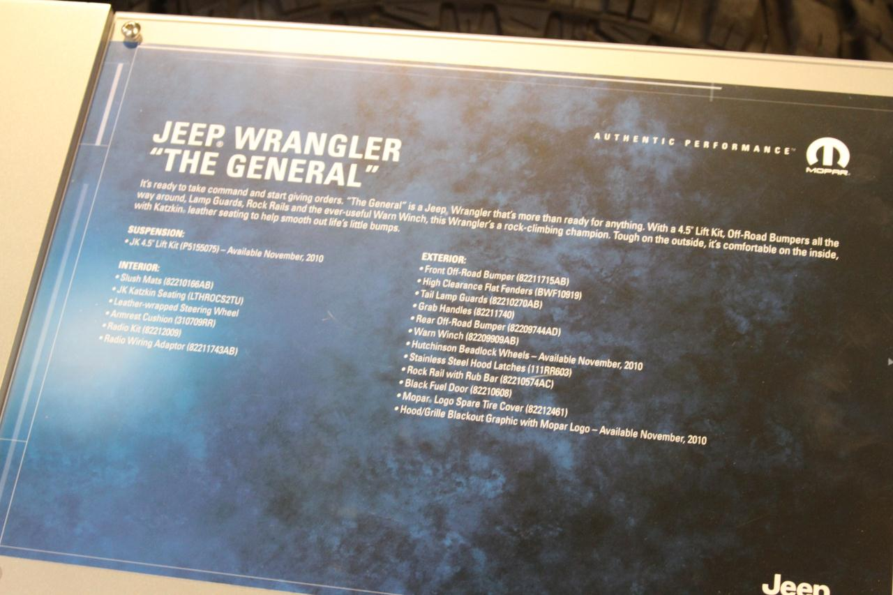 Sema 2010 Jeep Wrangler The General Photo Gallery Autoblog Jk Radio Wiring