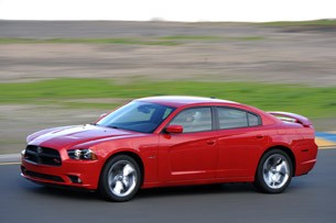 2011 Dodge Charger front 3/4 driving view