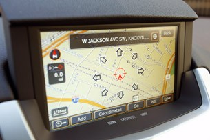 2011 Cadillac CTS Coupe navigation system